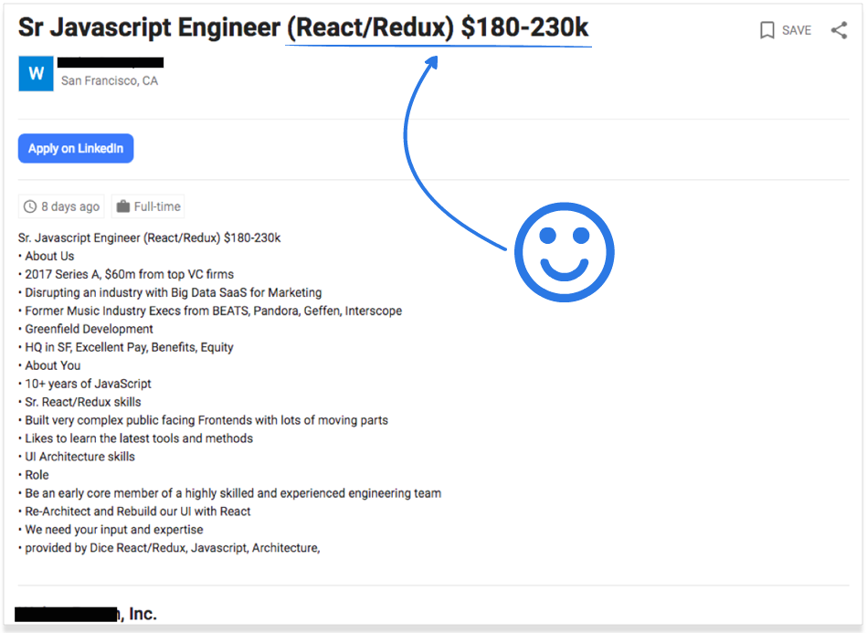 React salaries